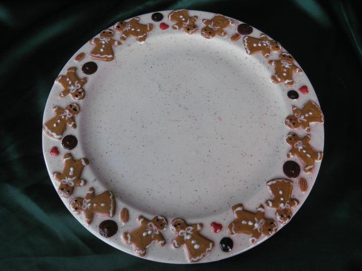 Large Handpainted Gingerbread Plate. Gingerbread ManPlatesGinger ... & 49 best Gingerbread Ceramics
