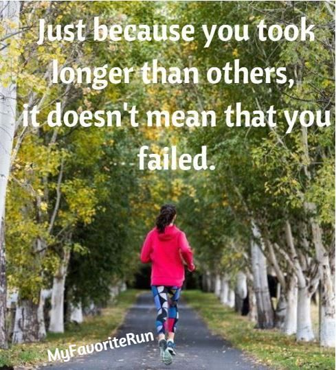 This is so true... your pace is your pace and what ever it is... as long as you're happy doing it and crossing your finish lines... it doesn't matter!! Comment if you're a proud back of the pack runner!