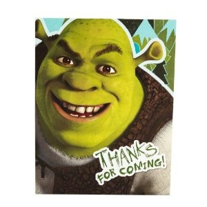 Shrek Forever After Thank You Notes. Thank your guests with a friendly Shrek smile. #birthday #parties