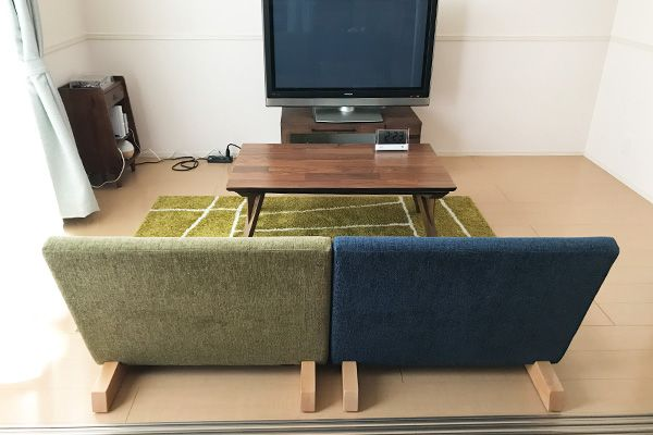 日本人らしい床スタイルに合わせた、フランネルソファで最も座面の低いロータイプソファです。