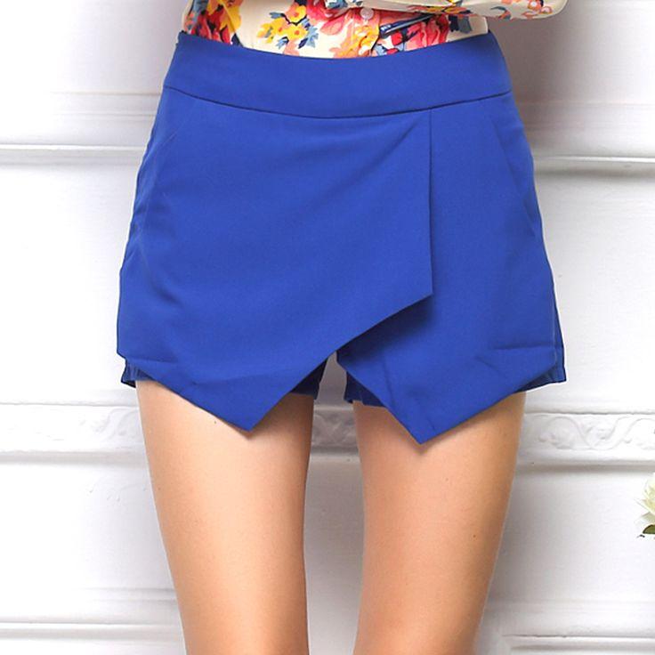 Cheap La forma en niveles cortos geométricas 2015 mujer pantalones cortos verano de las señoras asimétricas pantalones casuales nuevos elegantes pantalones cortos sexy, Compro Calidad Shorts directamente de los surtidores de China: