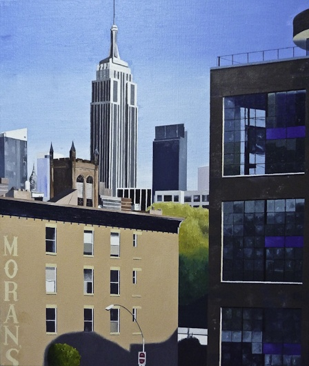 thecoolhandshake:    'Empire State Building from the Highline #2'  Oil on canvasby John Tierney
