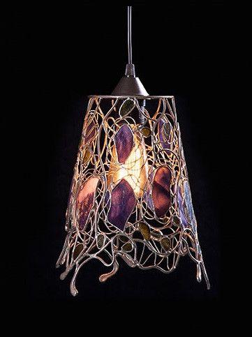 LAMPA+WISZĄCA+''AŻUR+FIOLETU''+w+Ni'Finn+Handmade+na+DaWanda.com