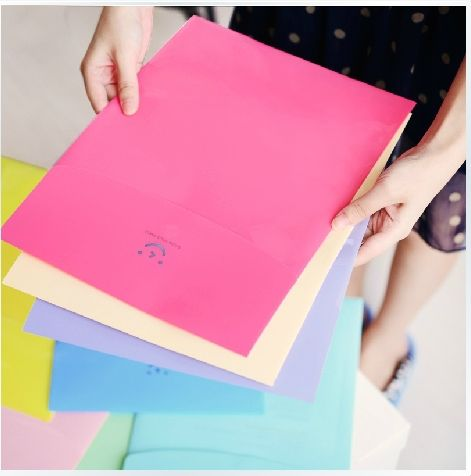 Christmas Plastic folder for documents korea organizer a4 cute folder stationery Wholesale free shipping