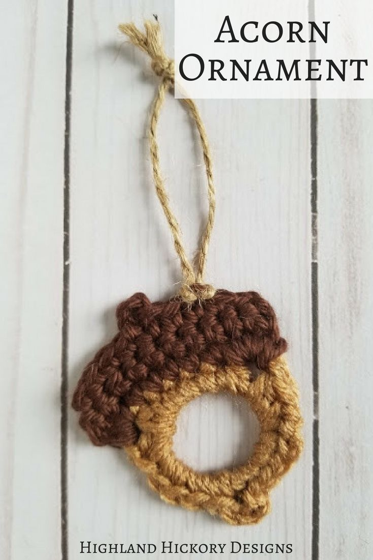 Upcycled Acorns - Highland Hickory Designs - Free Crochet Pattern ...