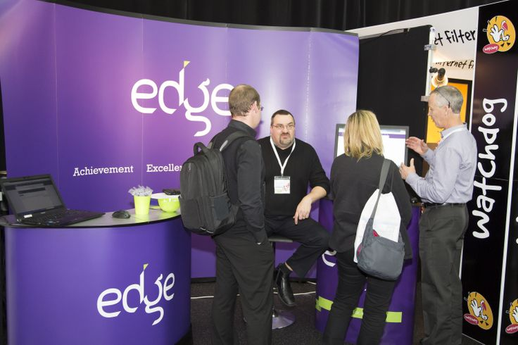 Edge stand in exhibition area