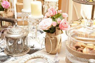 #vintage #wedding #arrangement #burlap belanidia #flowers