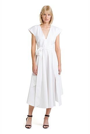 Deep V Fit Flare Dress