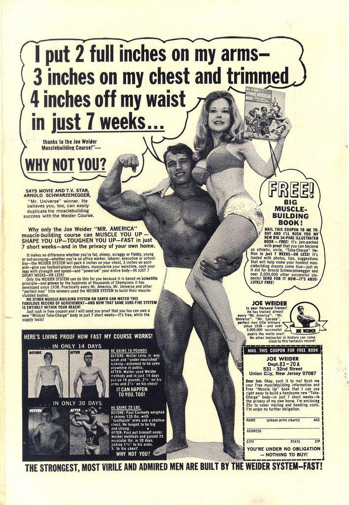 Vintage Bodybuilding Ads of Yesteryear ~ Kuriositas