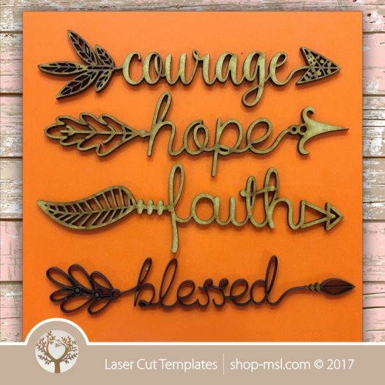 Product Laser cut word-arrow templates. Online pattern store. Free vector designs everyday. @ shop-msl.com