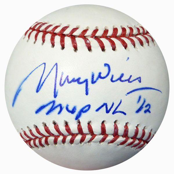 "Maury Wills Autographed Official MLB Baseball Los Angeles Dodgers """"MVP NL '62"""" PSA/DNA #U95909"