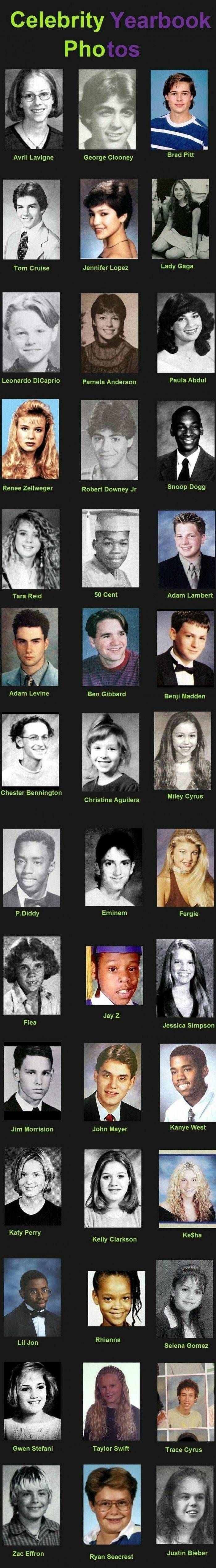 """Celebrity Yearbook Photos - Hilarious   Some of these celebrities I can still the resemblance, but wait until you get to the last one """"Justin Bieber"""" all I can say is ???  Source: http://www.awesomeblogisawesome.com/2011/07/hilarious-celebrity-yearbook-photos/"""