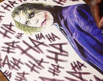 """Check out new work on my @Behance portfolio: """"The Joker Ballpoint Pen Drawing"""" http://be.net/gallery/32062425/The-Joker-Ballpoint-Pen-Drawing"""