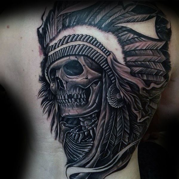 25 best ideas about indian skull tattoos on pinterest indian headdress tattoo skull tattoos. Black Bedroom Furniture Sets. Home Design Ideas