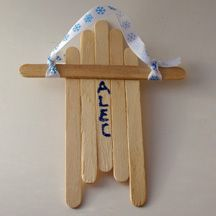 popsicle stick crafts from the free preschool crafts website: Easy Kids Crafts, Winter Crafts, Sticks Sled Doesn T, Octopuses Crafts, Kids Paintings, Christmas Ornaments, Sled Ornaments, Popsicles Sticks Crafts, Crafts Sticks