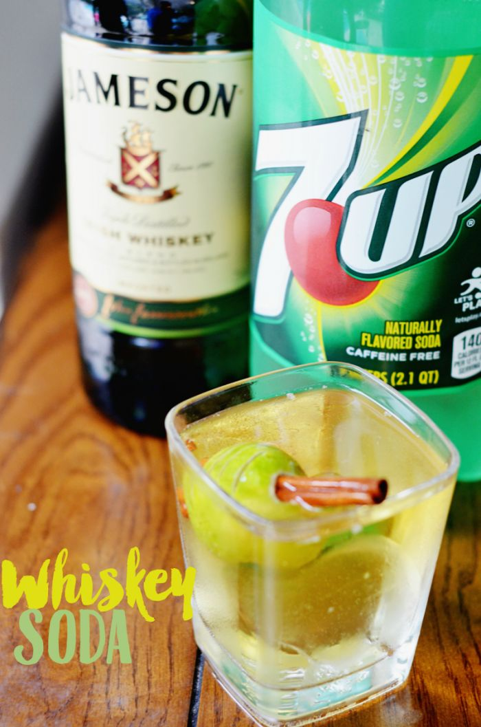Create this simple whiskey soda cocktail with a key lime twist. #ad