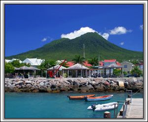 The Port of #Charlestown, #Nevis, West Indies.  Gorgeous view. Shows just how laid back Nevis still is...even with all of the development.