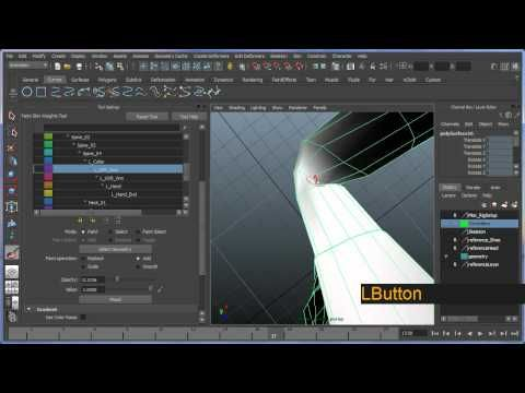 Basic bipedal character rigging setup in Maya - Part 7 of 8 - YouTube