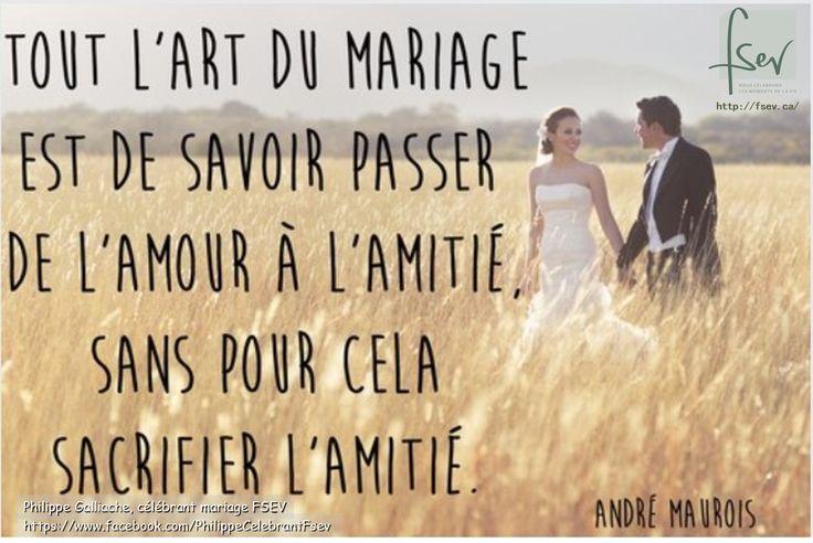 l'art du mariage c'est...