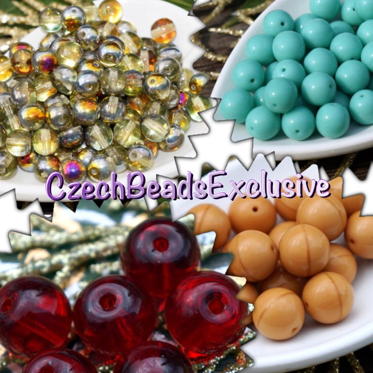 #NEW Czech Glass Round beads! www.CzechBeadsExclusive.etsy.com #etsy #beads #DIY #jewelry