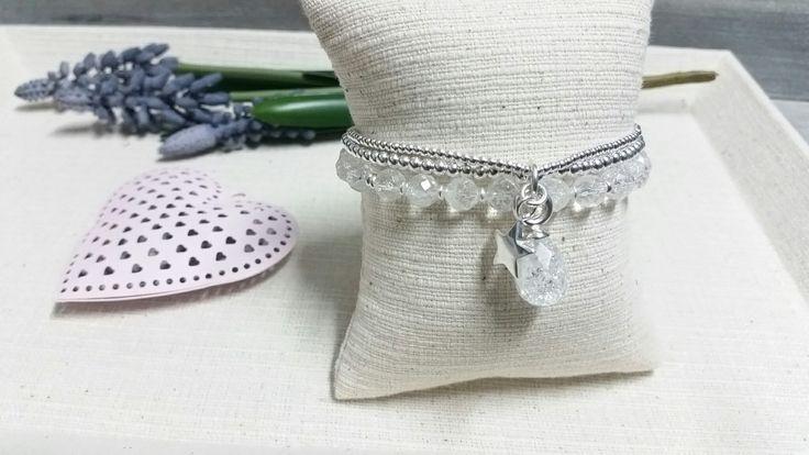 Bergkristall mit Silber 925