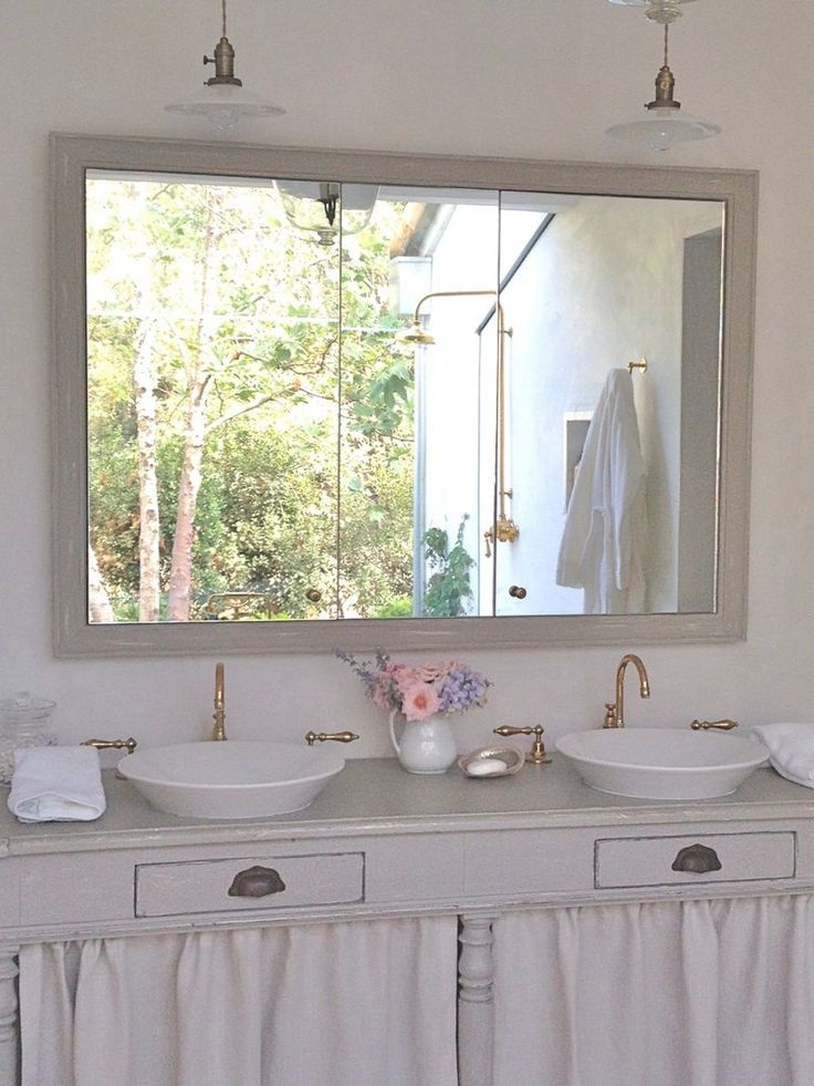 340 best dressing rooms and baths images on pinterest for Farm bathroom