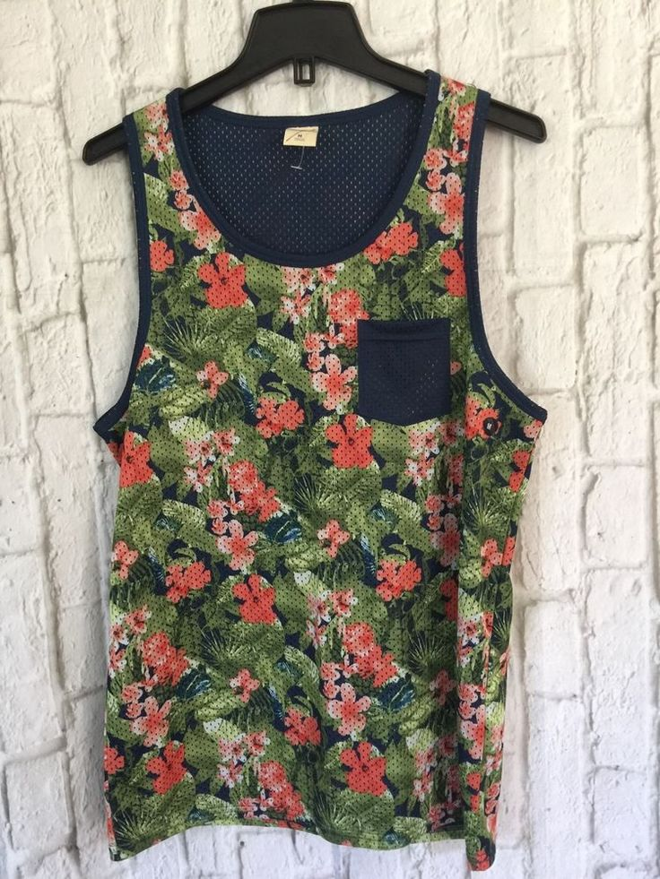 Hollister By Abercrombie Men's MEASH FLORAL Tank Top Shirt M NEW #Hollister #Tanktop