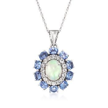 The 25 best tanzanite pendant ideas on pinterest diamond tw tanzanite pendant necklace with white topaz in 14kt white gold over sterling 18 aloadofball Gallery
