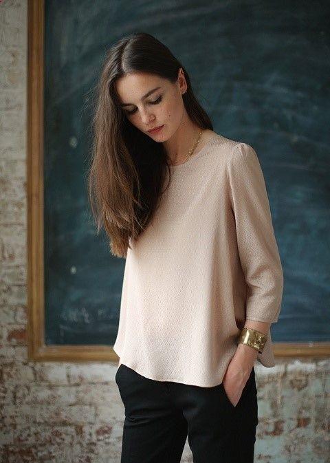 Sézane / Morgane Sézalory - Garbo blouse #sezane #garbo www.sezane.com/fr #frenchbrand #blouse