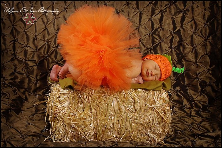Olyvia will def be a pumpkin for her first Halloween since I've incorporated pumpkins into several other milestones!