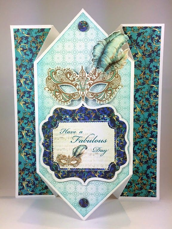 Craftwork Cards Blog: Venetian 4DD Accordion Cards - tips and tricks, card by Neil Burley