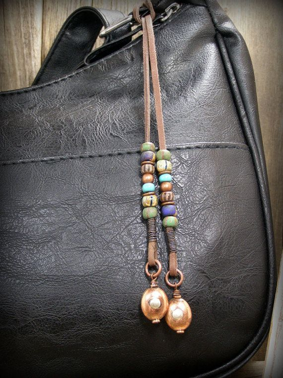 Bohemian Native American Style Purse Tassel by StoneWearDesigns