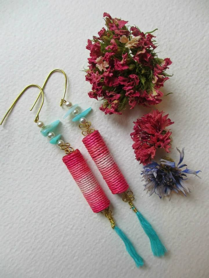 Orecchini romantici e delicati /Romantic and chic earrings  #earrings #fashion #colorful #handmade #bohemianjewelry
