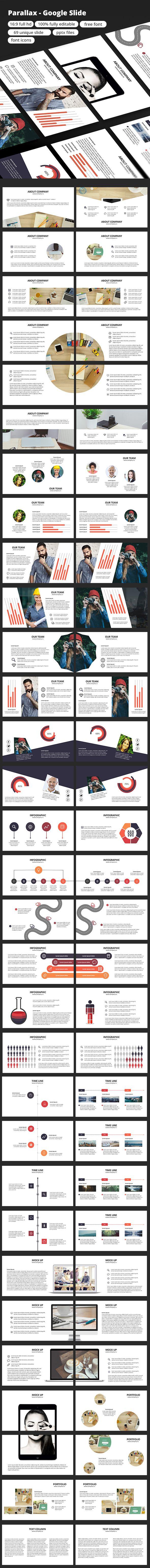 Parallax - Google Slide - Google Slides Presentation Templates