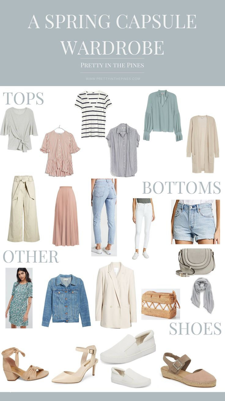 Building A Spring Capsule Wardrobe With 21 Pieces