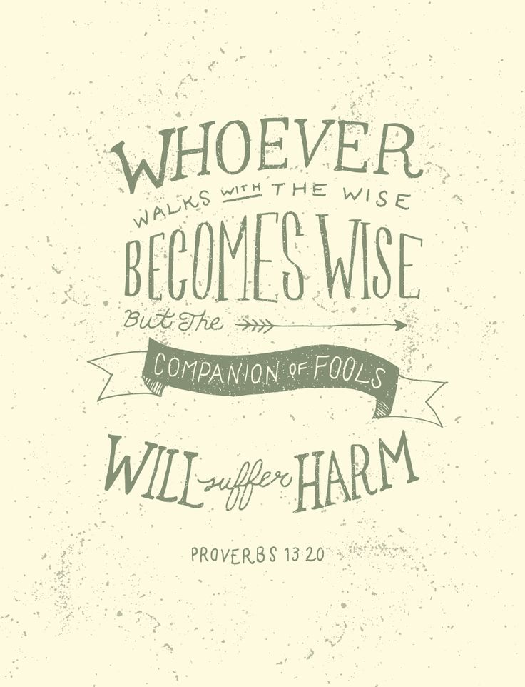Proverbs 13:20 - Fifty Two Verses