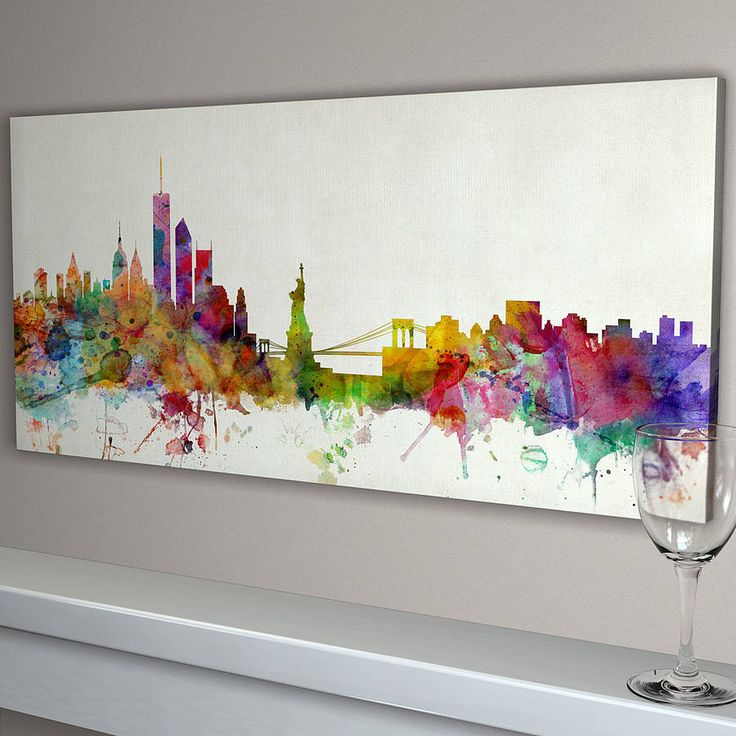 new york city skyline by artpause | notonthehighstreet.com