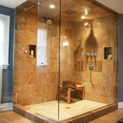 Double Shower In A Corner Unit