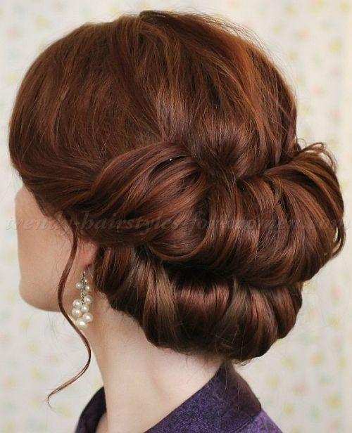 chignon hairstyles - double chignon