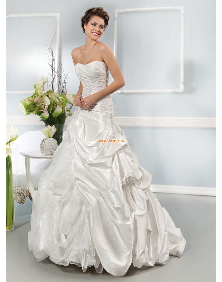 Lodičkový výstřih Satén Elegantní & moderní Svatební šaty 2014