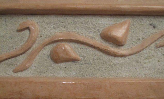 Rama rzeźbiona w Tadelakt