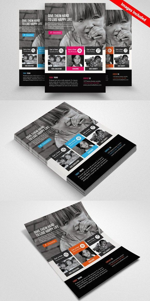 Charity & Donation Flyer. Flyer Templates