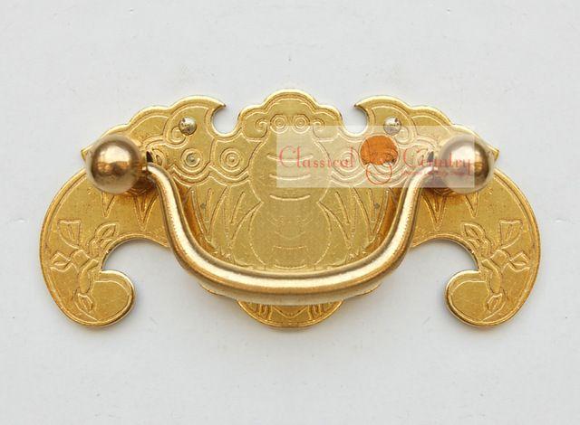 4 pcs de Ferrures En Laiton Tiroir Poignées Tirez bouton Meubles De Bain Cabinet Tronc Box 7.8x3.5 cm