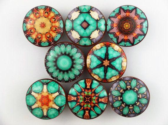 Conjunto de 8 el Cairo Mandala impresión Pomito