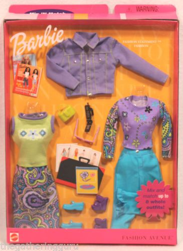 New Barbie Fashion Avenue Mix 'N Match Styles Clothes Doll Clothes 2000 | eBay
