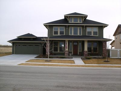 Four Square House Plan, Unique Prairie School Home Design - The