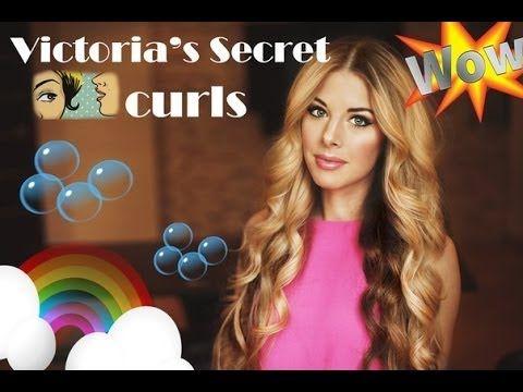 Big loose curls : Victoria's Secret soft waves, кудри