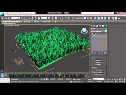 3ds Max - Pflow - Grass - YouTube