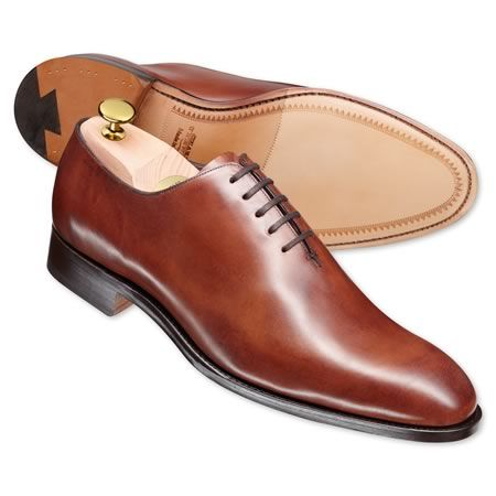 Brown luxury calf wholecut shoes | Men's business shoes from Charles Tyrwhitt | CTShirts.com