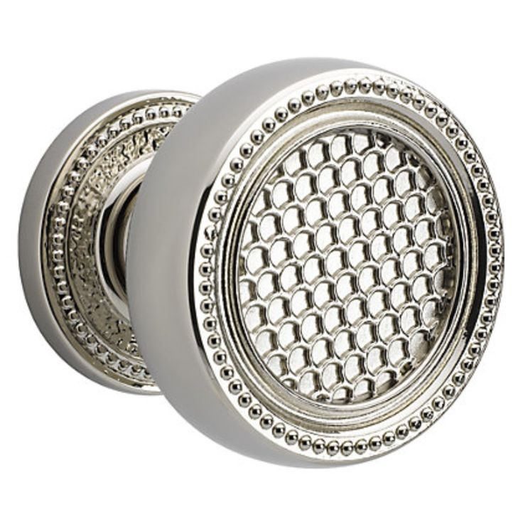baldwin couture door knob in polished nickel - Baldwin Door Knobs